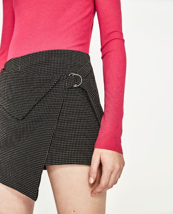83e648d9c Imagen 5 de SHORT FALDA JACQUARD de Zara | Modelos falda short ...