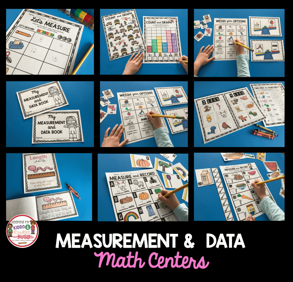 Measurement And Data Kindergarten Math Unit Freebies