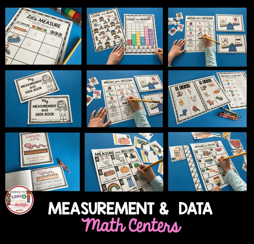 Measurement And Data Kindergarten Math Unit Freebies