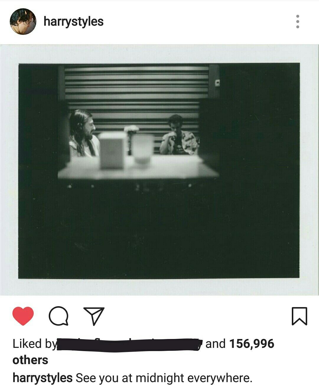 Harry on instagram. The album will be released at midnight May 12th everywhere.