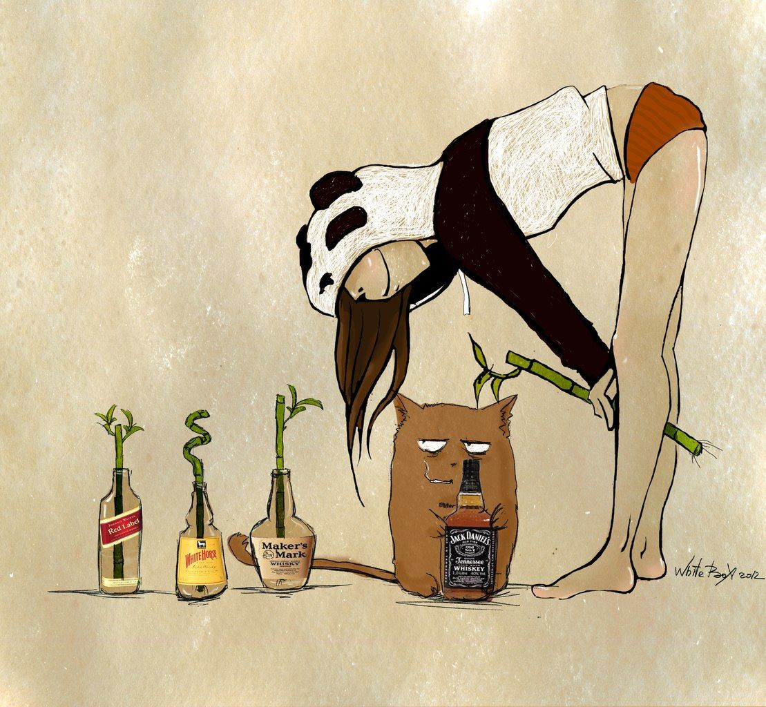 Рисунок девочка с котами