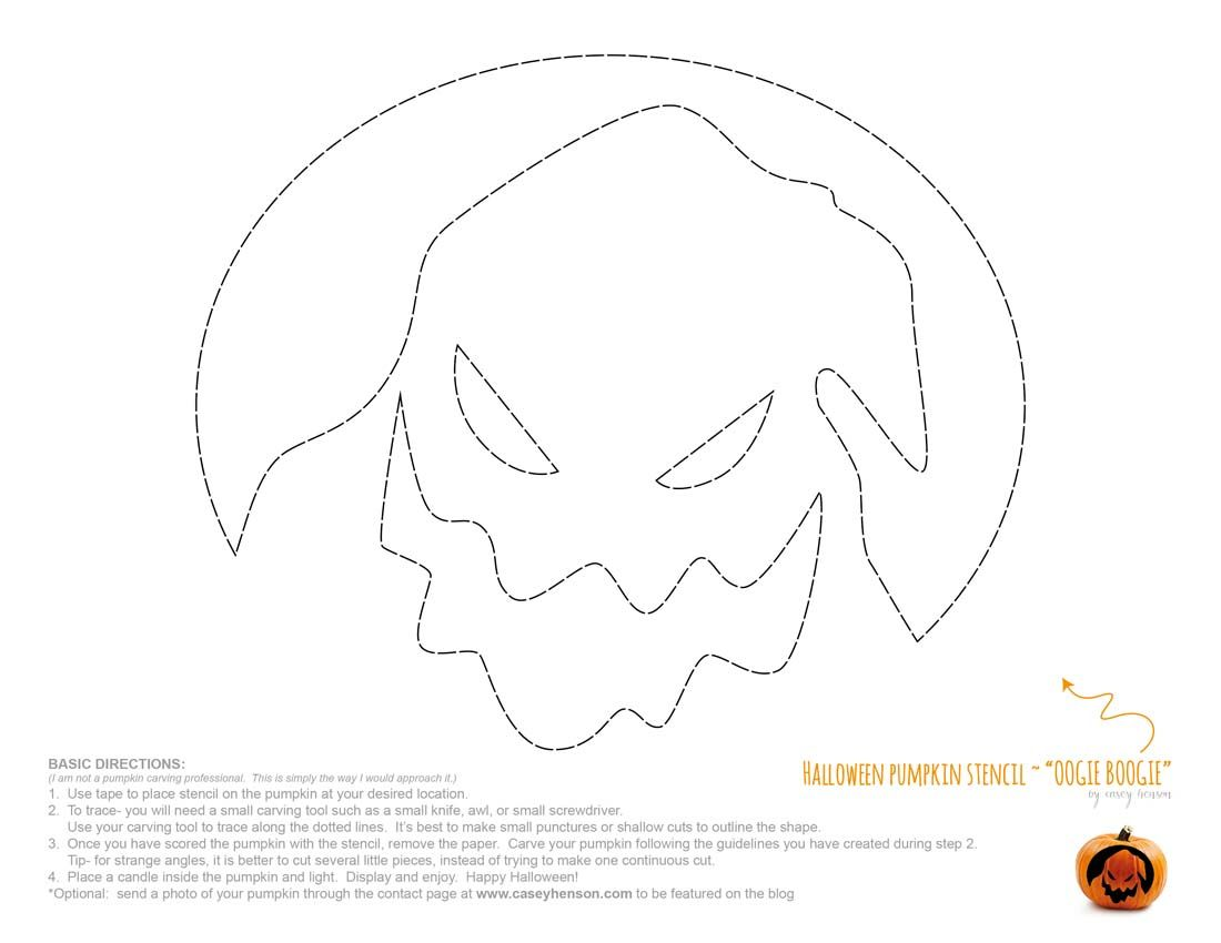 Casey henson blog halloween pumpkin carving stencils for Pumpkin carving patterns printable jack skellington
