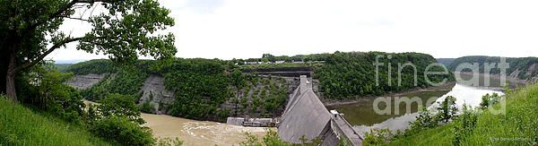 Panorama Of Mount Morris Dam At Letchworth State Park  by Rose Santuci-Sofranko #letchworthstatepark