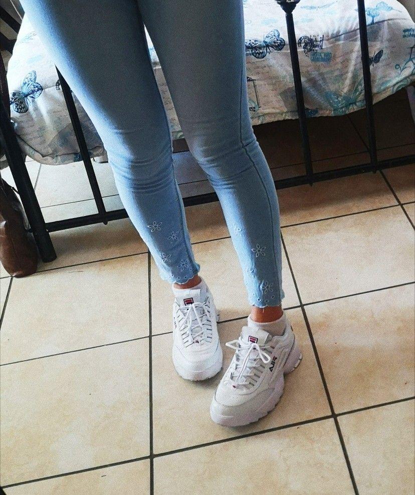 Fila Disruptors II Fila ma Filas | Skinny jeans, Fashion