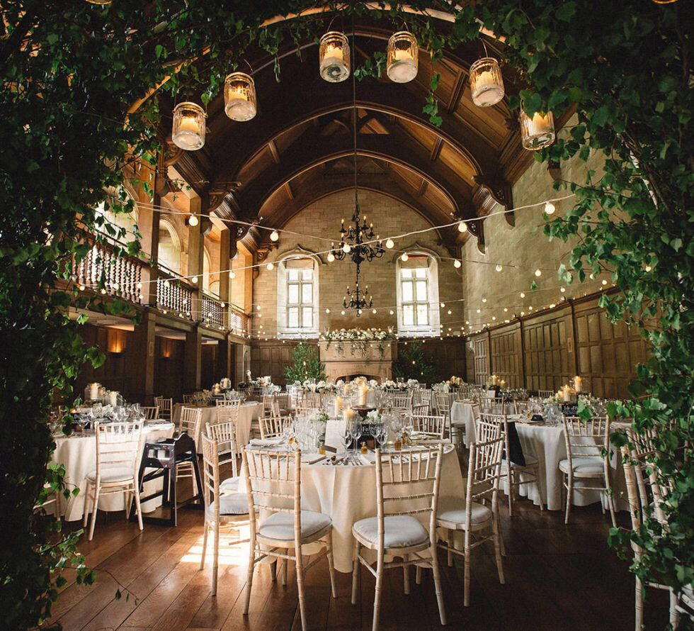 Wedding Reception Perfection Lanterns Cafe Lights Exposed Bricks And Wood Romantic Receptions Wedicit Wedding Venues Uk Wedding Venues Best Wedding Venues