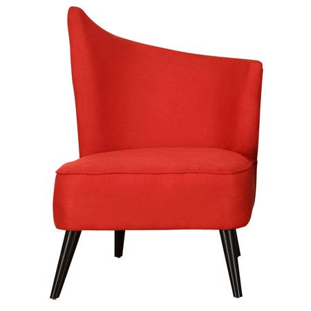 I pinned this Georgina Right-Side Accent Chair in Red from the Armen Living event at Joss and Main!