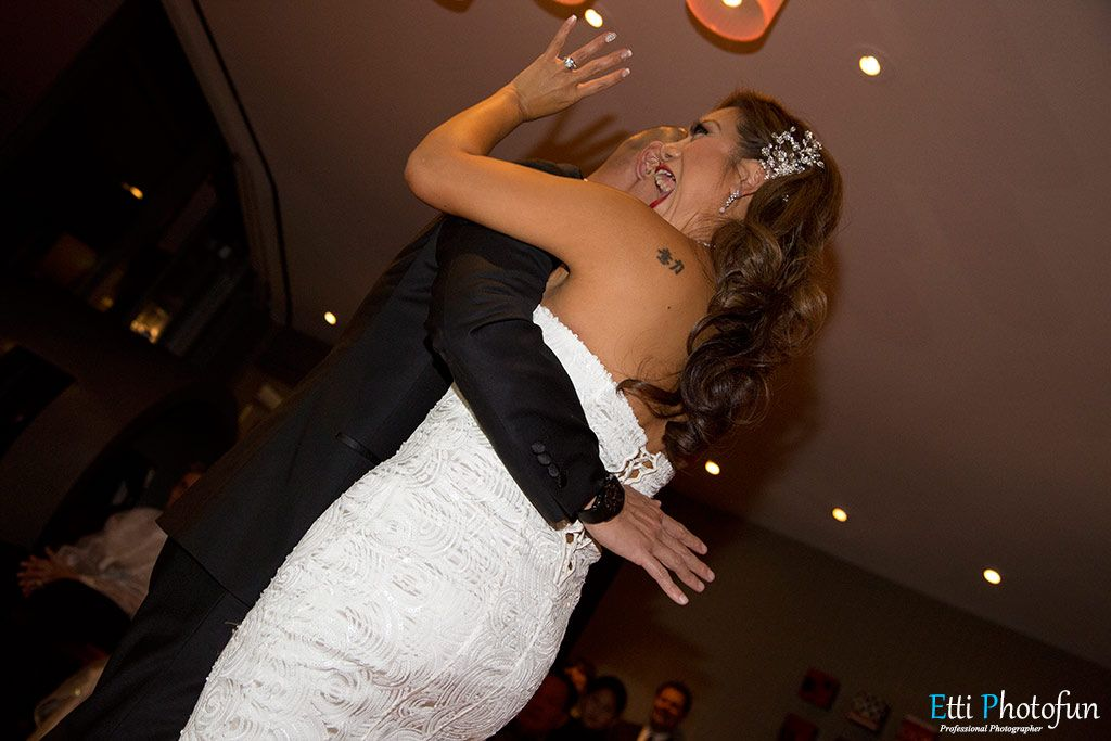 Las vegas wedding reception at the palms hotel casino