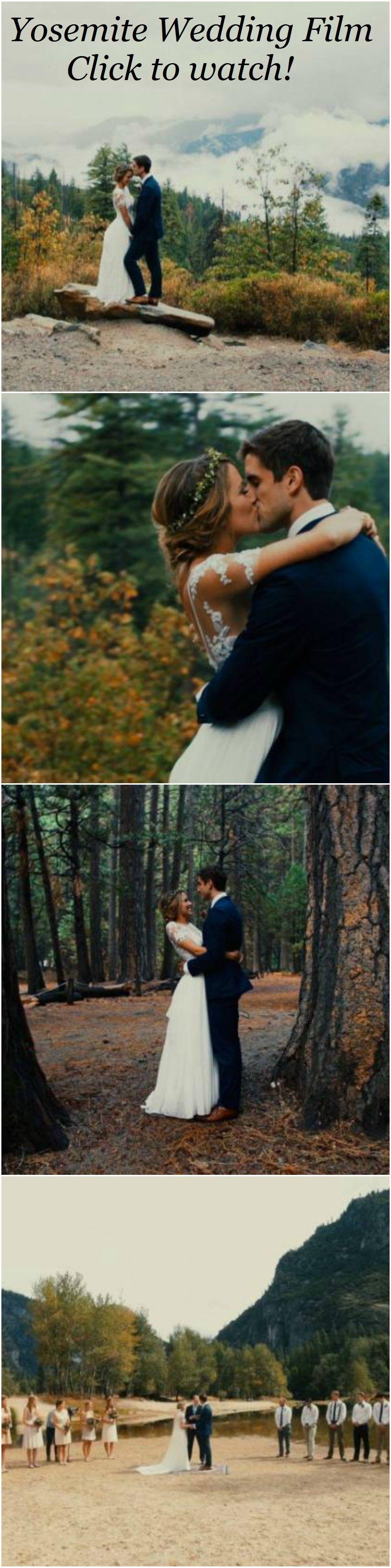 Yosemite wedding film christian ceremony in the california