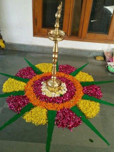 Flowers Rangoli Flower Decorations Flower Rangoli Rangoli Designs Flower