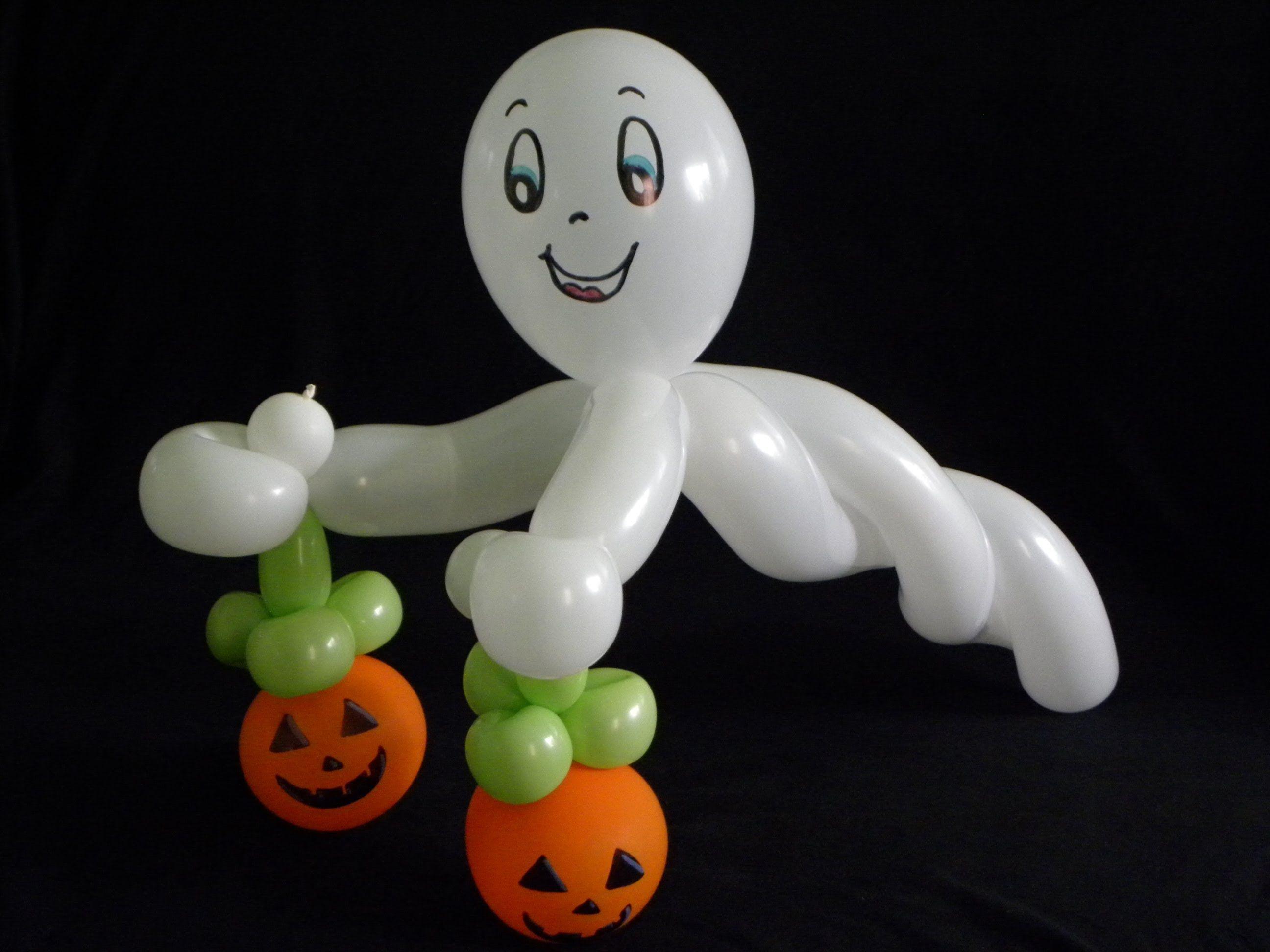 halloween balloons como hacer un fantasma amigable how to make friendly ghost - Halloween Balloon Animals