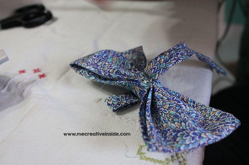 tutorial diy papillon di stoffa festa del papa ME creativeinside