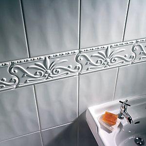 Border Tiles Border Amp Mosaic Tiles Wickes Co Uk Bathroom Wall Tile Wall Tiles Bathroom Border Tiles