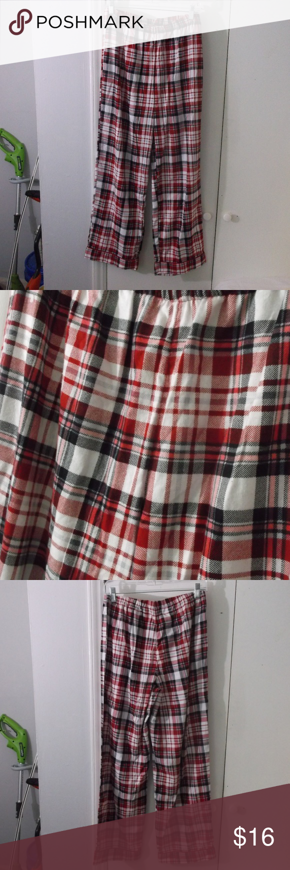 Red flannel pajama pants  NWOT Kim Rogers Red Plaid Flannel Sleep Pant S  My Posh Closet