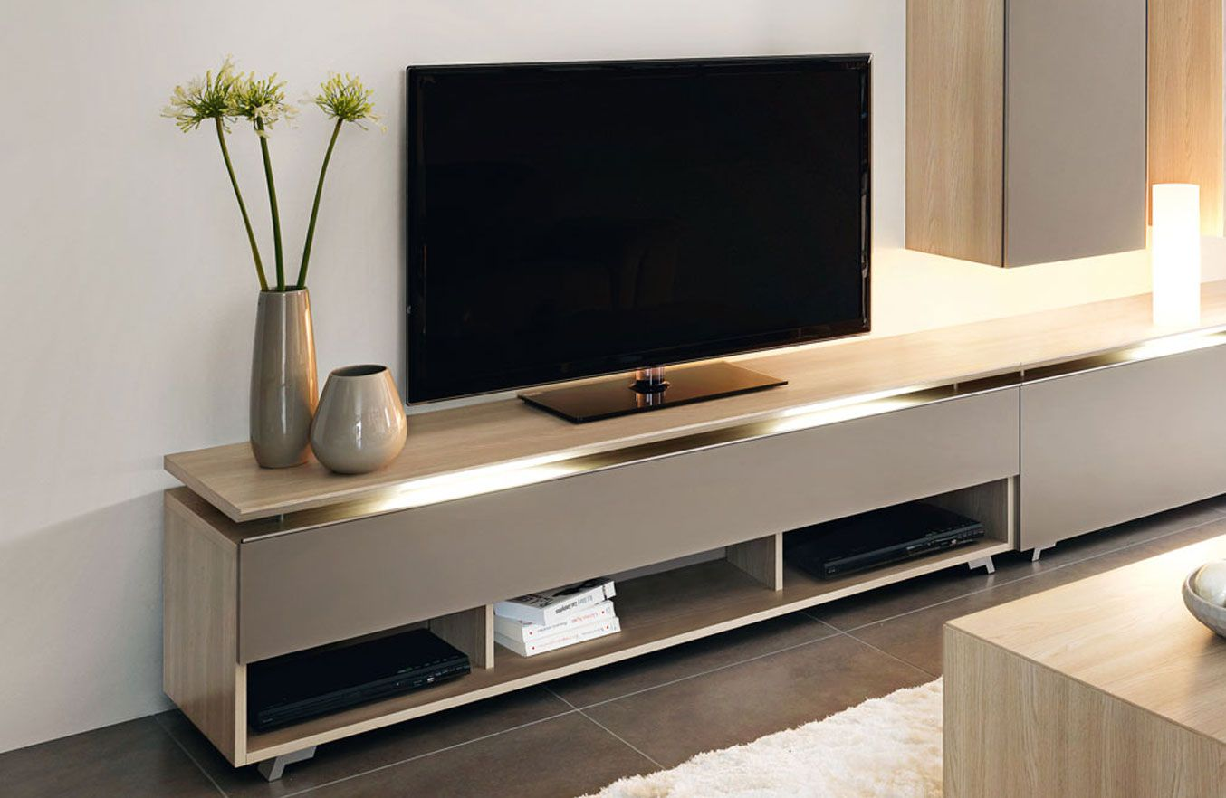 Banc Tv Collection Artigo Fabricant De Meubles Gautier  # Meubles Tv En Bois Laque Colore