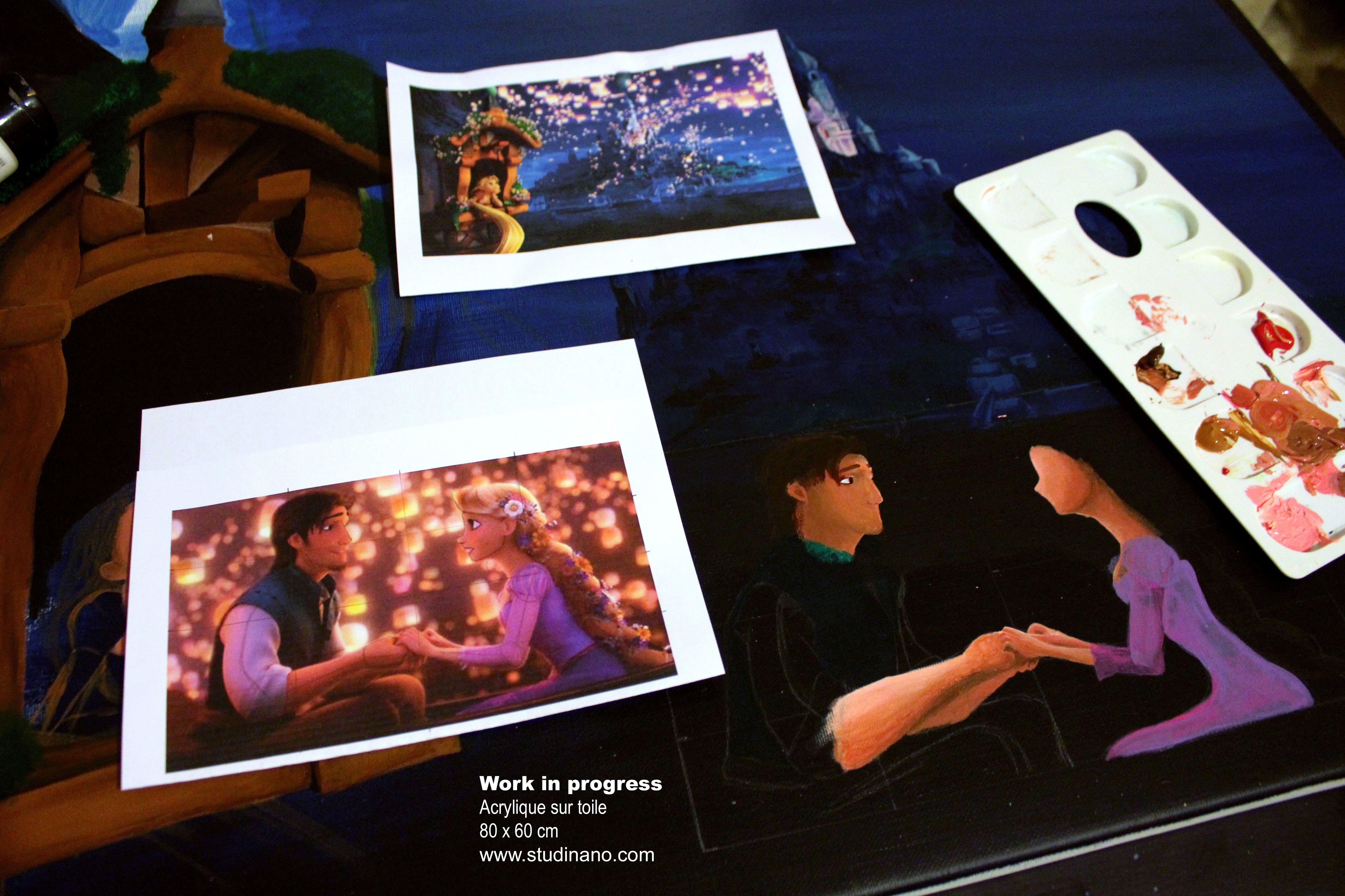 Toile en cours : Raiponce | Studinano, Portfolio de Shou'