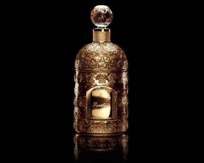 """Guerlain Golden Bee Bottle. The perfume and its bee bottle created such an impression on Empress Eugénie, Napoleon III bestowed the title """"Perfumer to Her Majesty"""" on Guerlin, and the rest as they say is history for Guerlain. He ended up being the perfumer from Queen Victoria to Queen Isabella of Spain and other royal households in Europe."""