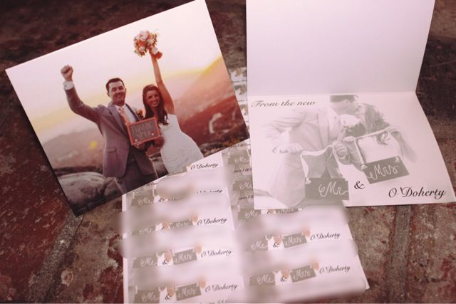 Diy Wedding Thank You Cards And Address Labels Using Photos From The Made Through Vistaprint Very Affordable Easy