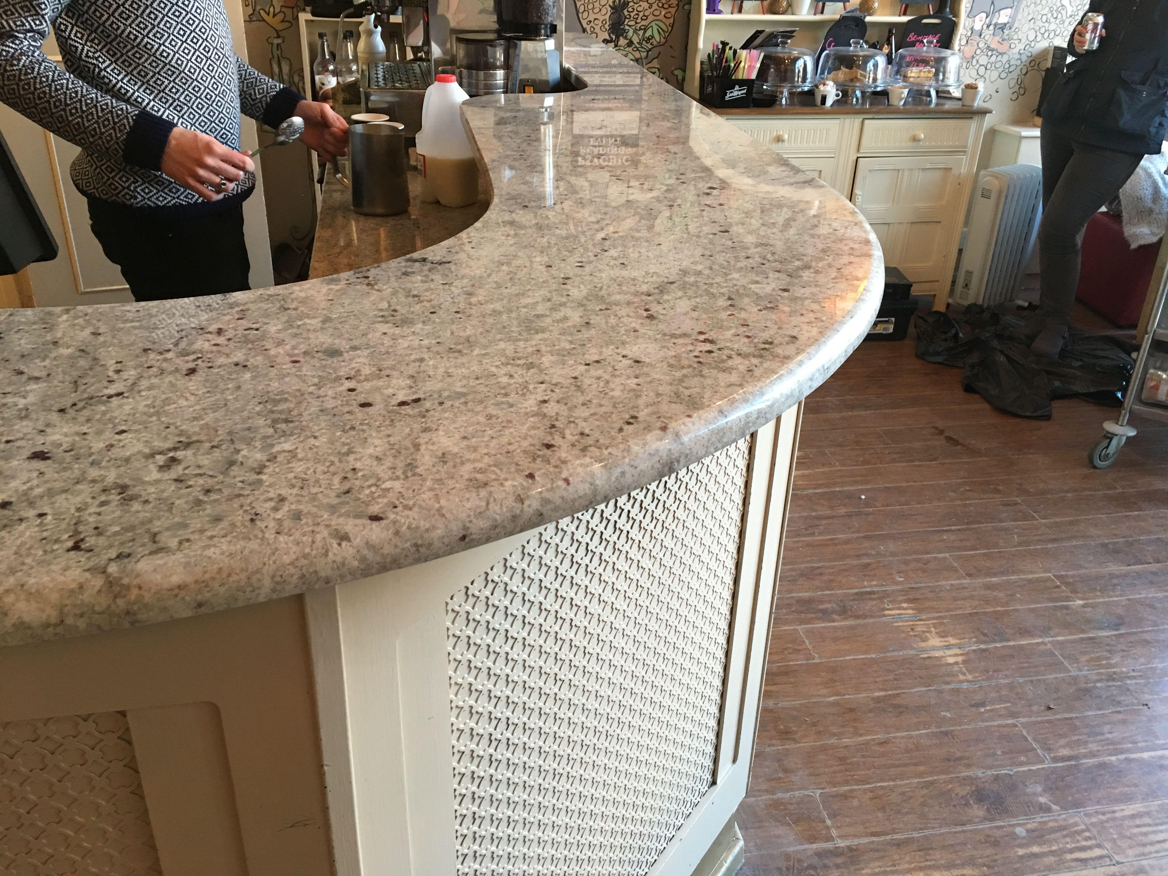 Colonial White Granite bar top in slinkys, West Kirby www.grosvenorgranite.co.uk