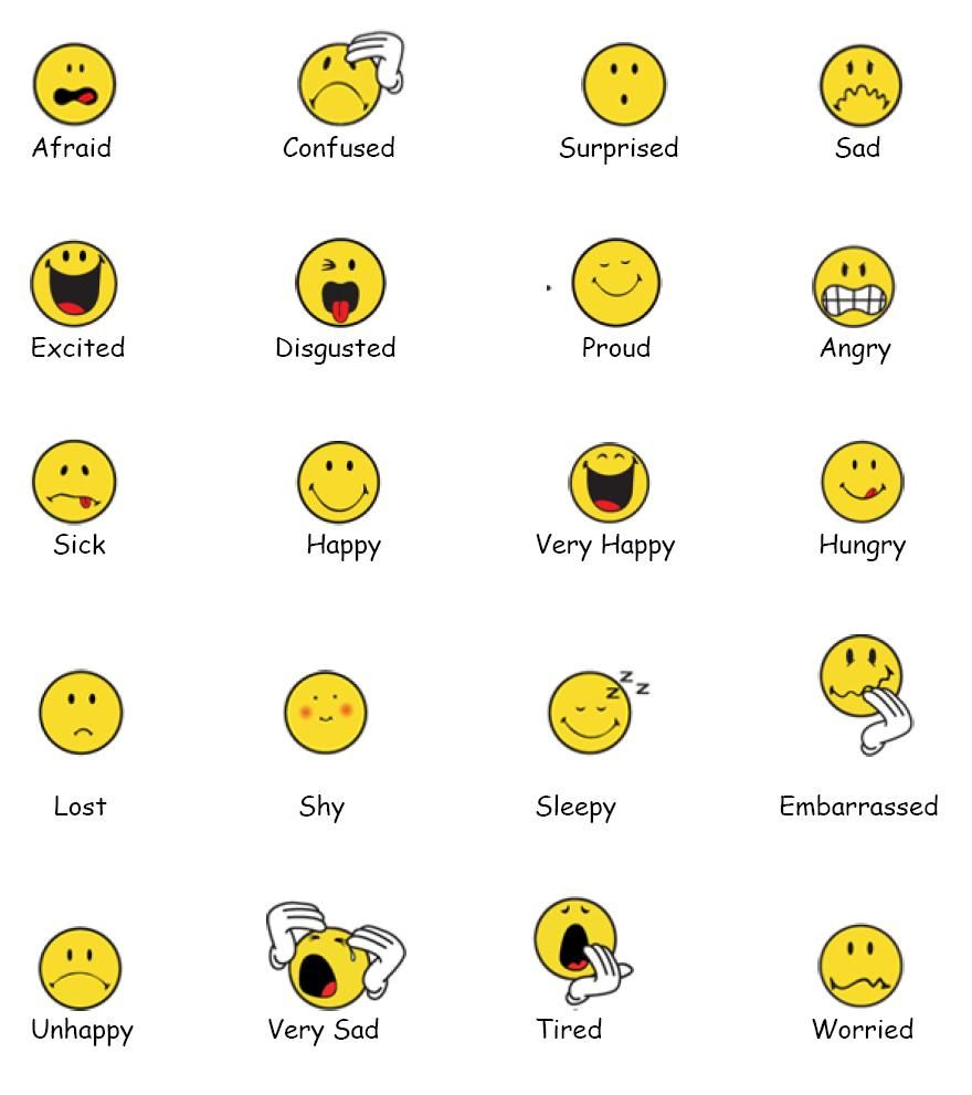 Feelings Faces Chart Emotions Clipart Free Clipart ...