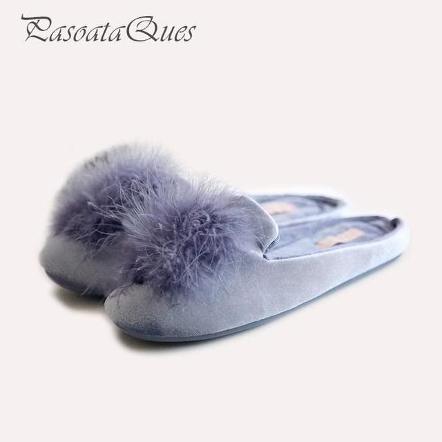 adbe22ebf Cute Pompons Women Slippers Home Indoor Women House Shoes Summer Ladies  Slides Pasoataques Brand