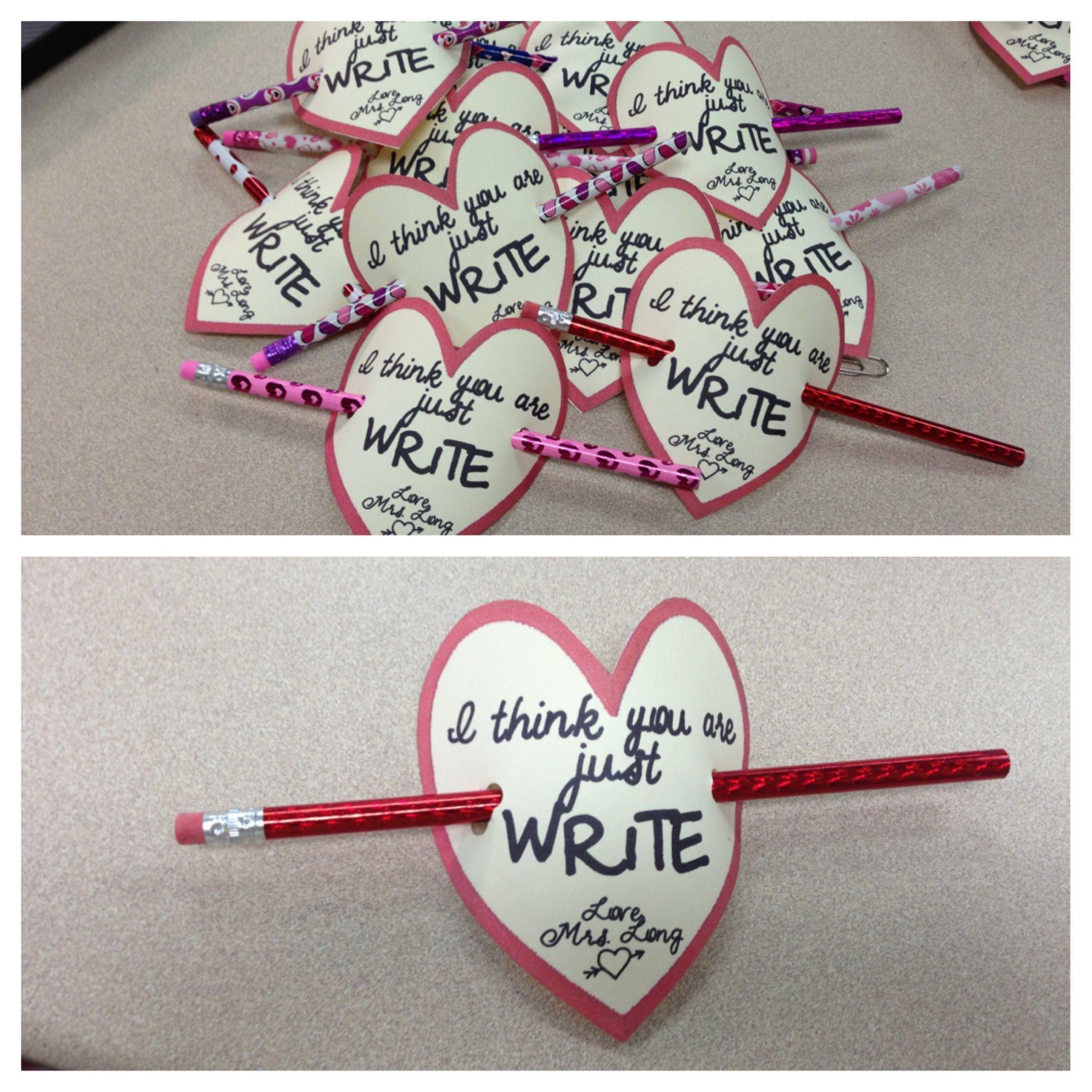 Student Valentine From Teacher
