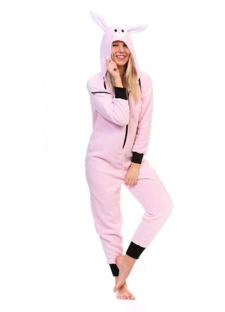 Totally Pink  Bunny Plush Character  Womens  Onesie  17709e2cc