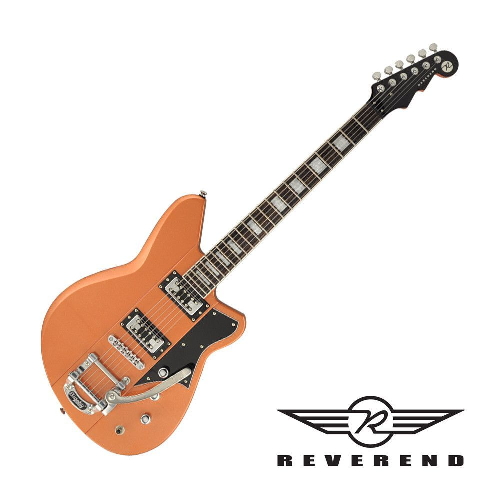 Reverend Warhawk RT Electric Guitar with Bigsby - Metallic Copper Fire