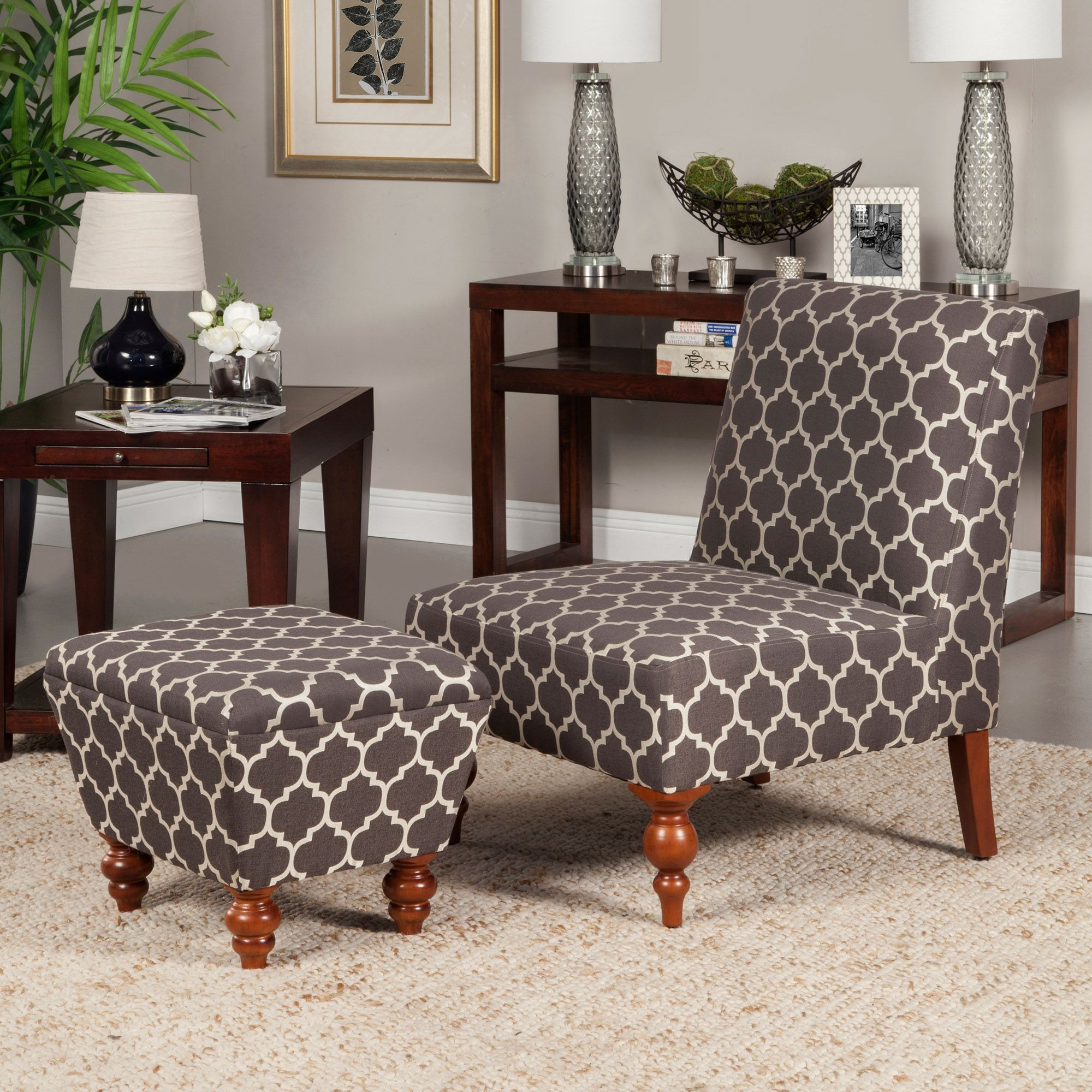 Best Susan Armless Accent Chair Ottoman Set Chair Ottoman 400 x 300