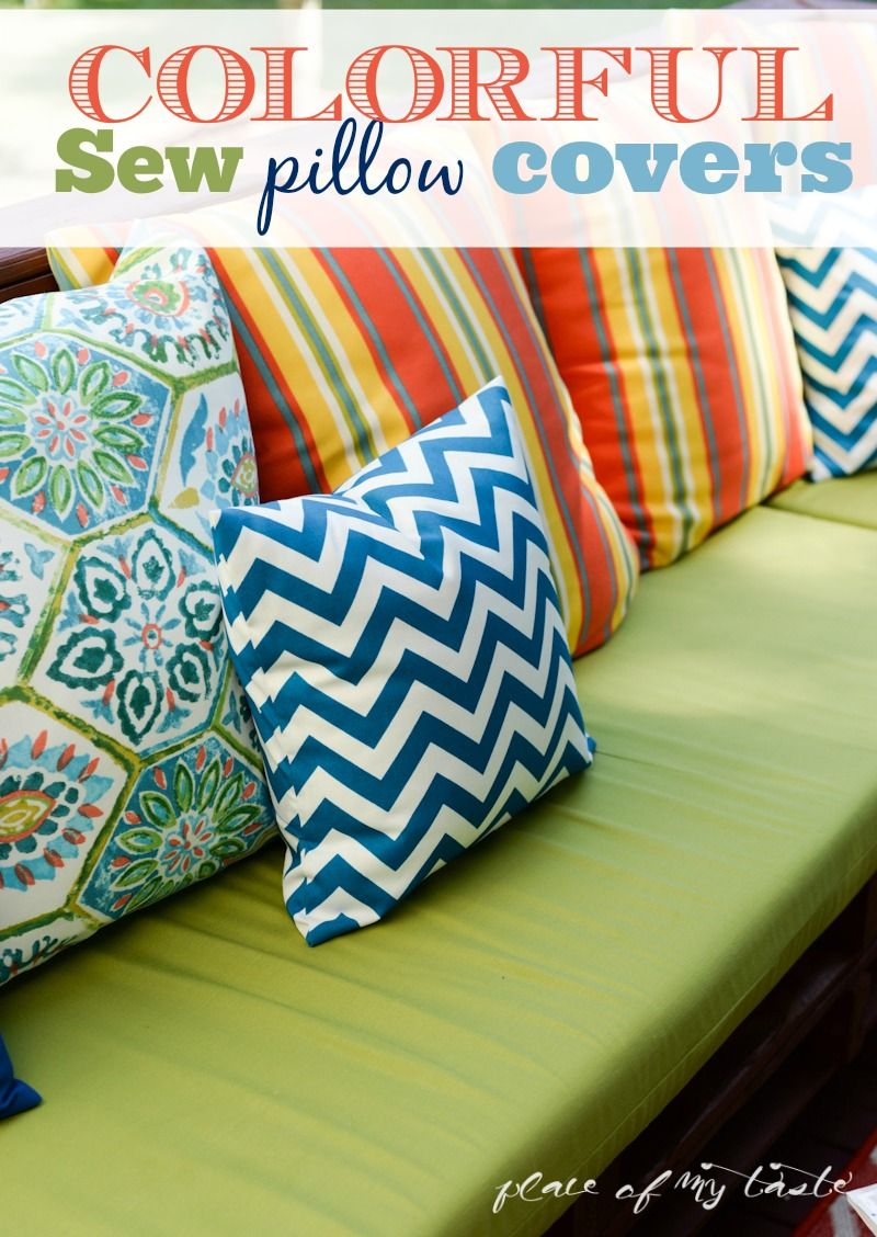 COLORFUL SEW PILLOW COVERS and GIVEAWAY | Cesto y Costura