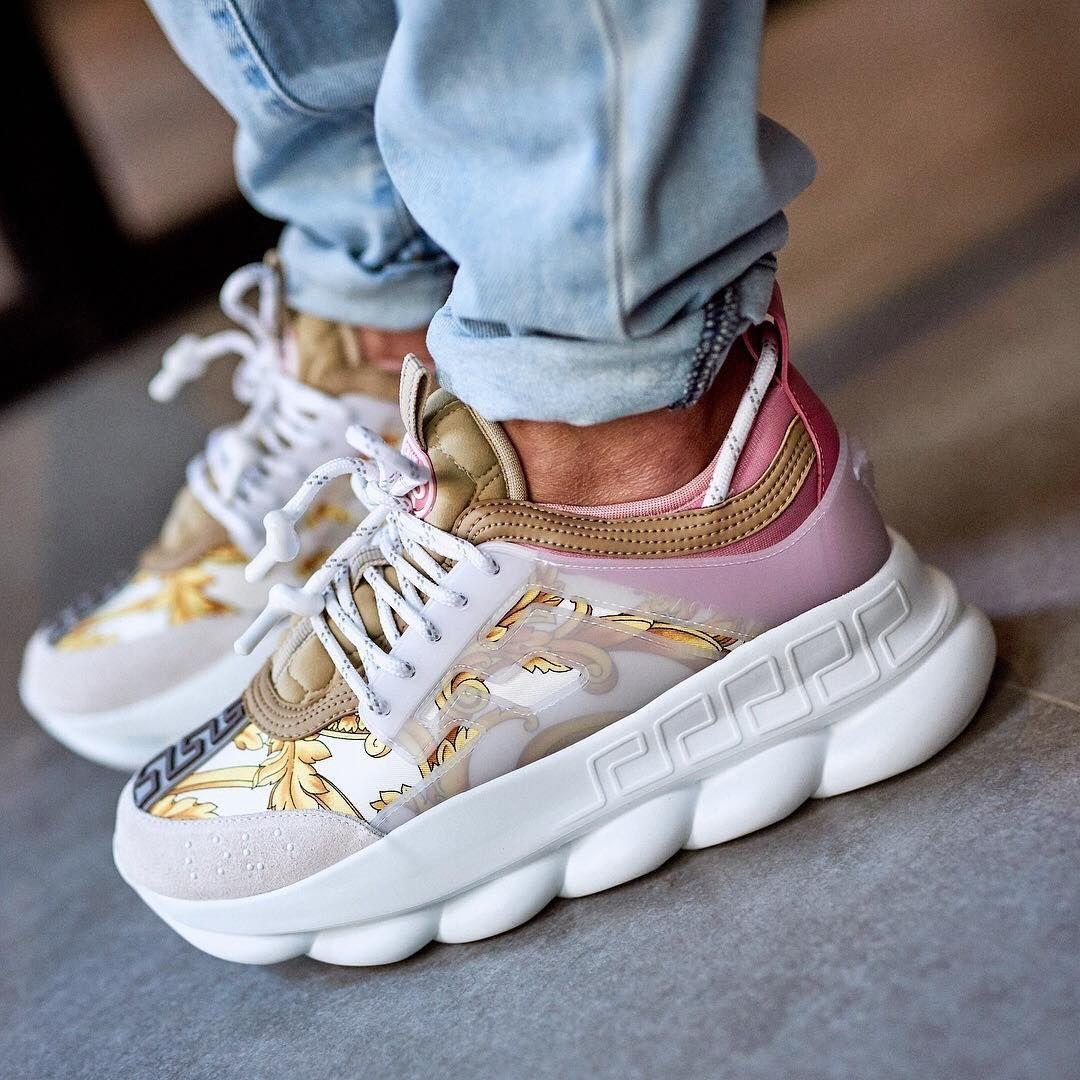 Versace sneakers, Designer shoes heels
