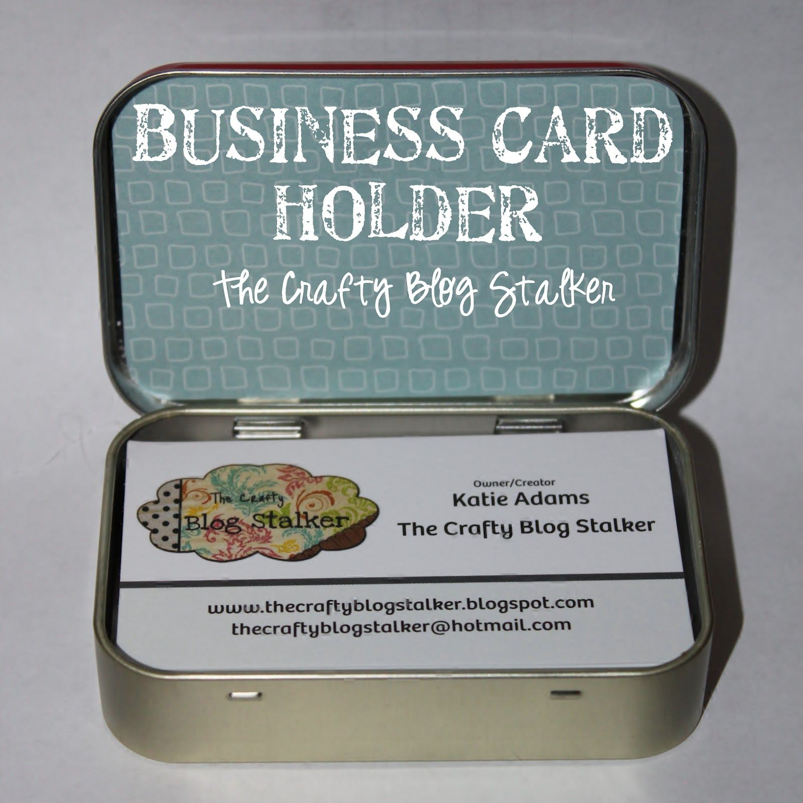 How to make business card holder with an altoids tin business business card holder made from an altoids tin via the crafty blog stalker now this is reheart Choice Image