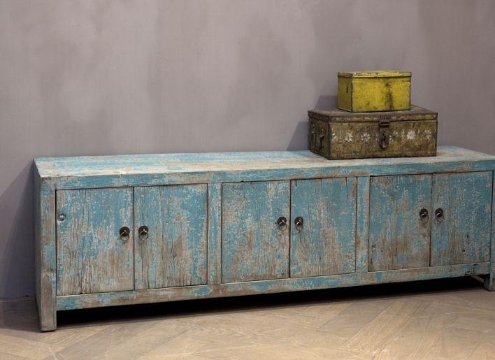 Oud houten tv dressoir landelijk wonen pinterest for Dressoir kast slaapkamer