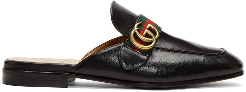 1f18329375bd GUCCI Black Gg Princetown Slippers.  gucci  shoes  flats