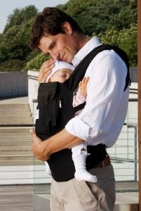 Men's Ergobaby best baby carrier for baby and toddlers 2014 - organic black carrier