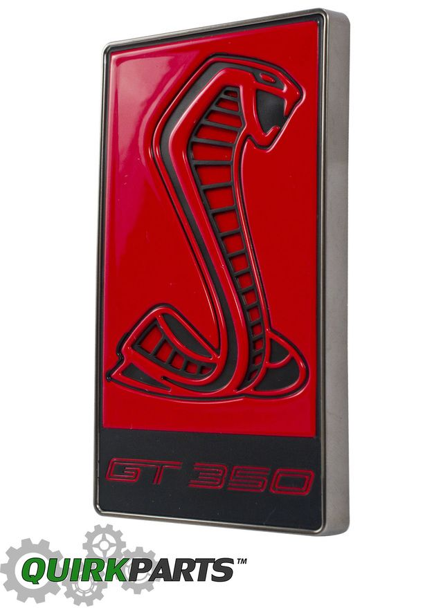 2016 Ford Mustang Shelby Gt350 Gt350r Red Cobra Snake Radiator Grille Emblem Oem Ford Mustang Shelby Mustang Shelby Ford Mustang