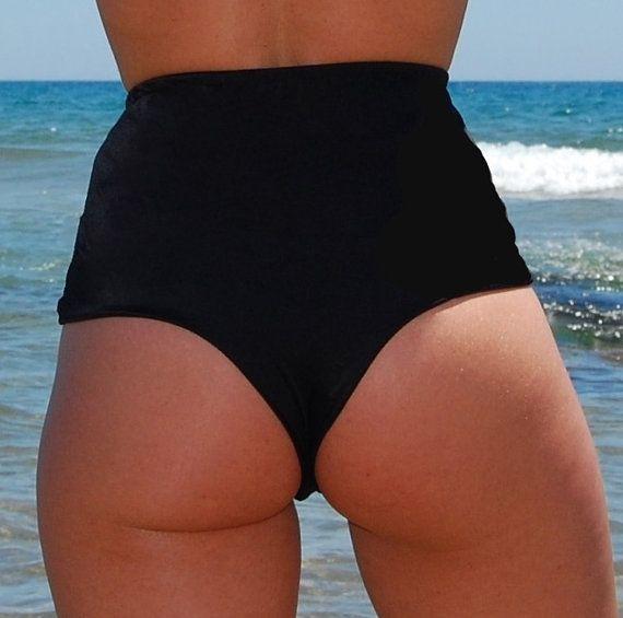 High Waisted Brazilian Thong Bikini