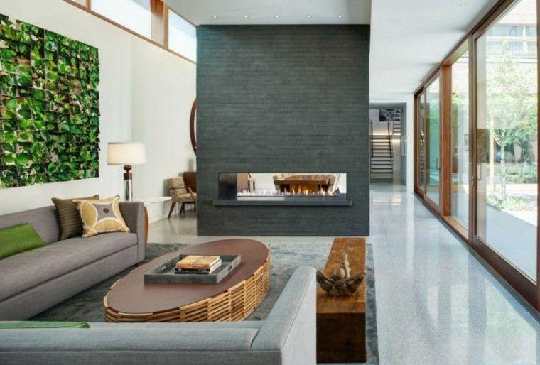 Diseño chimeneas modernas y 50 ideas para entrar en calor Fire - chimeneas modernas