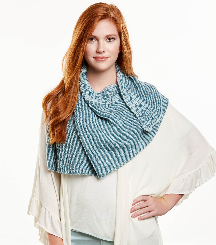 How To Knit A Mosaic Shawl Free Pattern. Skill Level: Intermediate ...