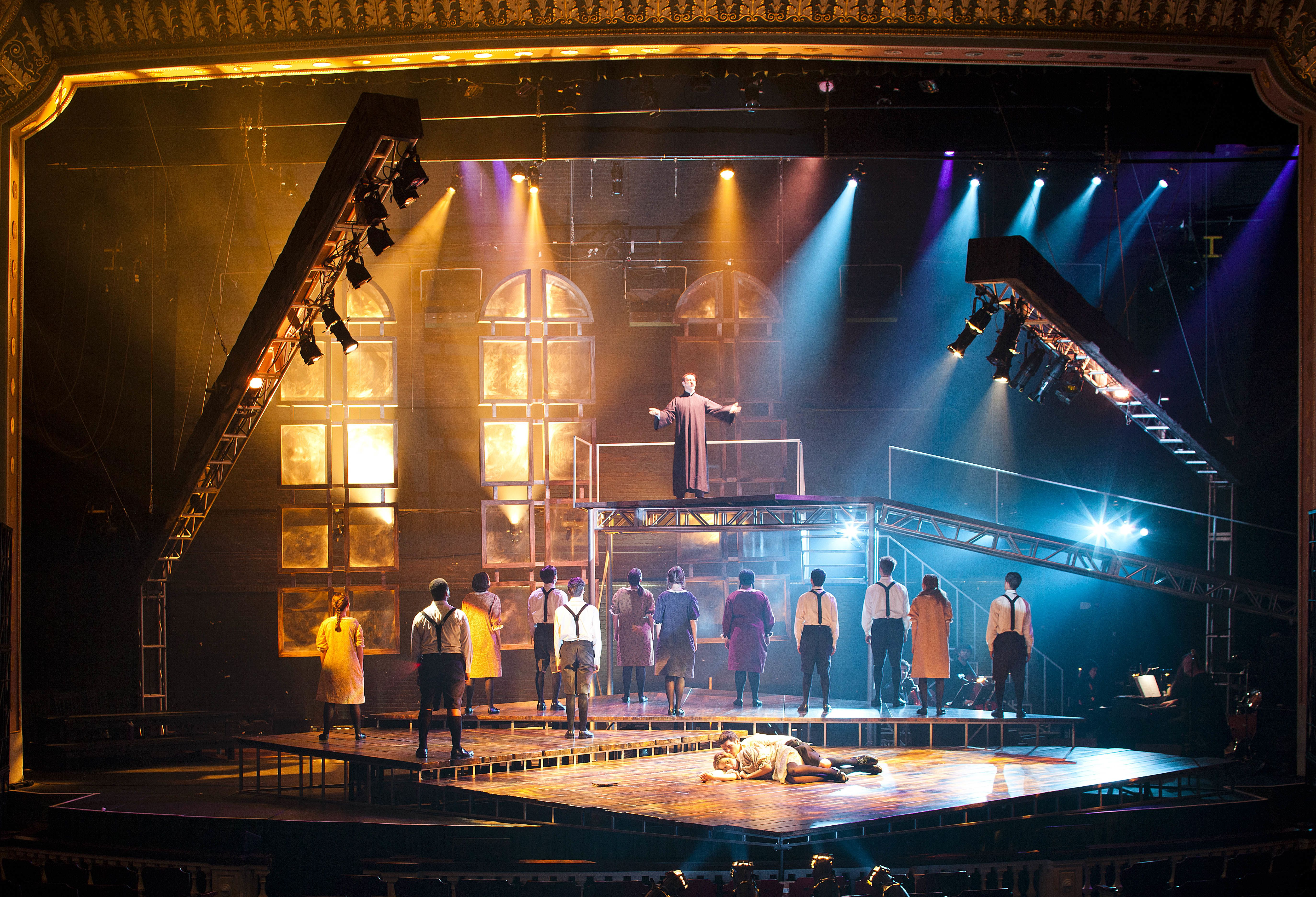 Production Photo From Spring Awakening For More Info And Photos Check Out Http Kpeterson Org Spring A Scenic Design Lighting Design Inspiration Stage Design