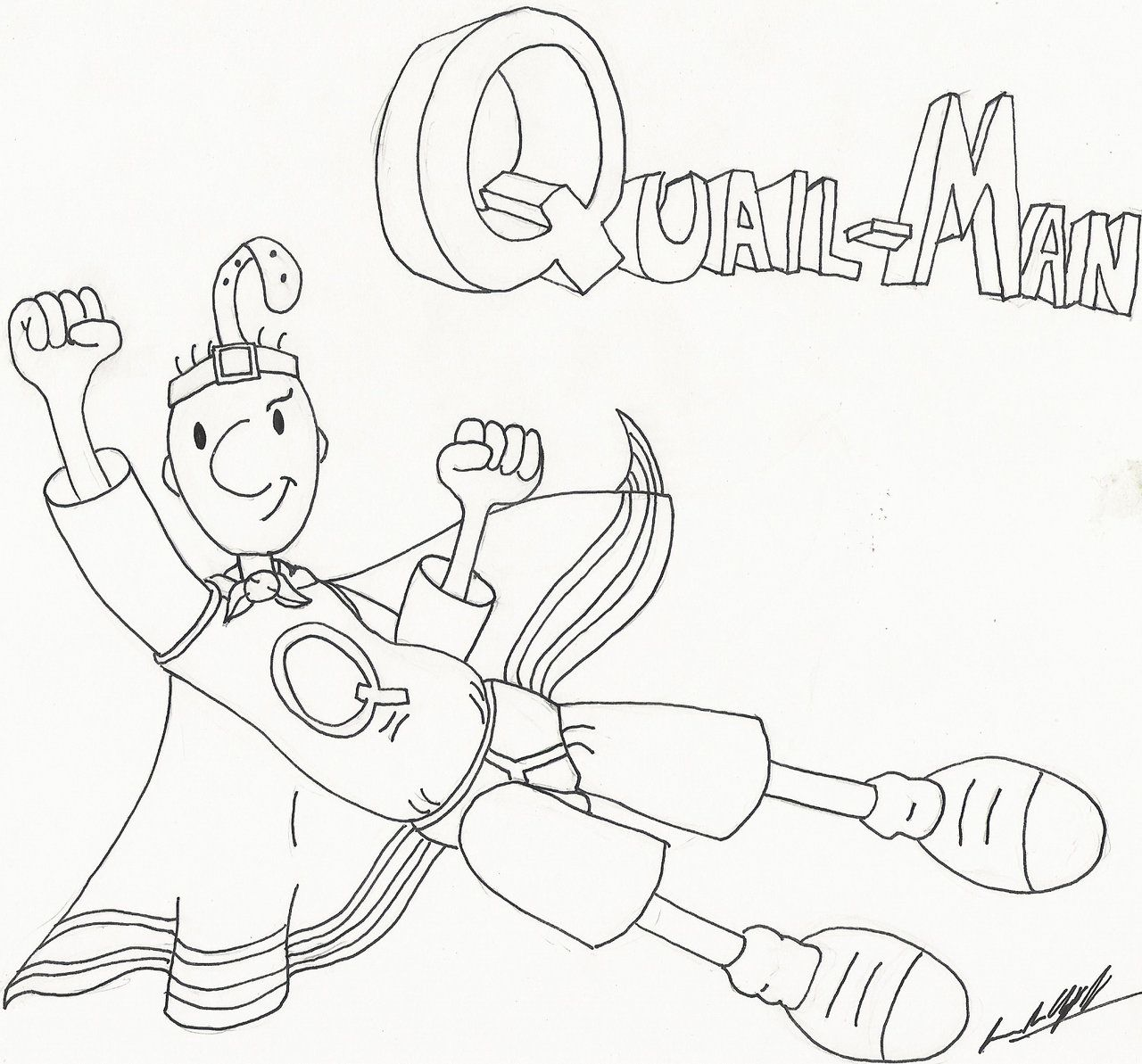 Doug Quail Man Coloring Pages Quail Man Lines By Infrafan