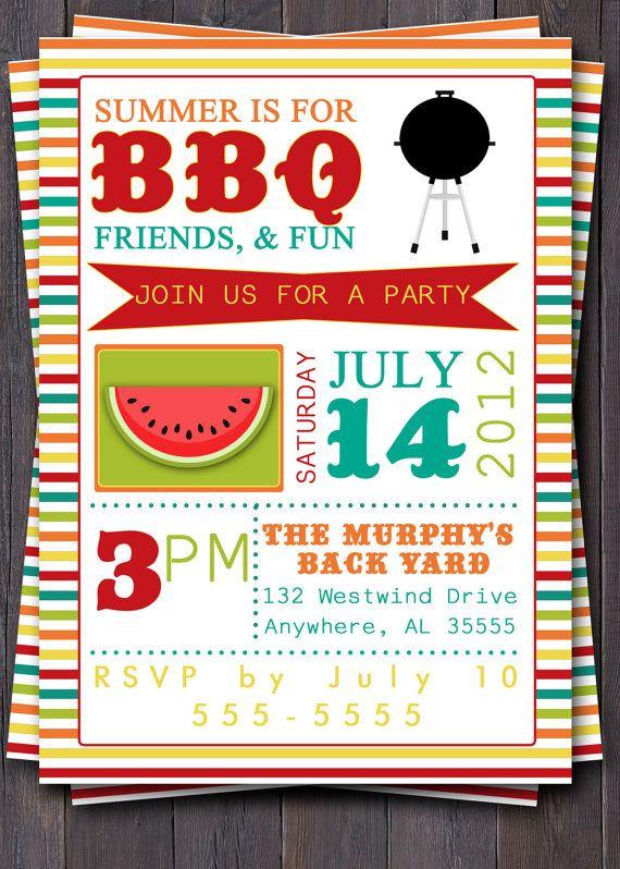summer bbq invitations