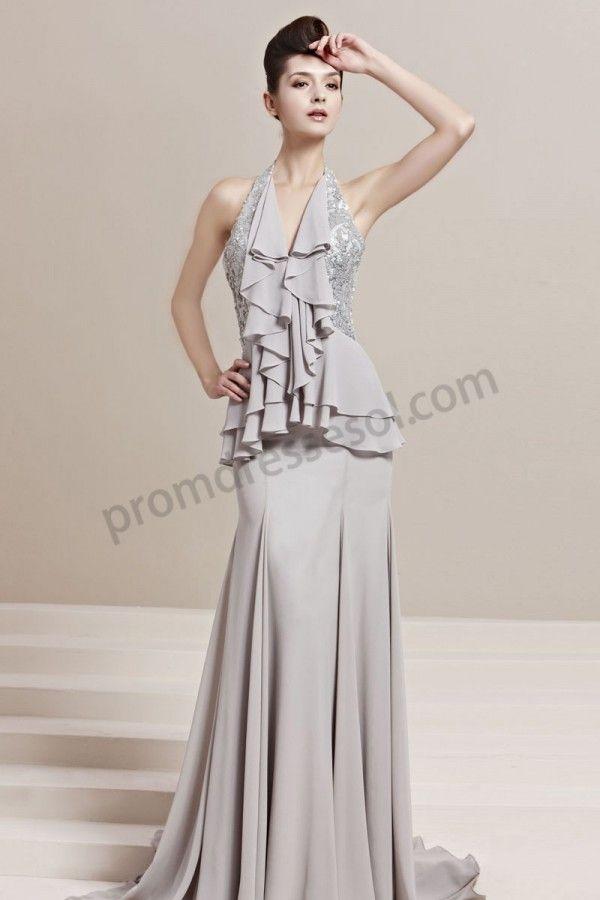 Long fishtail evening dresses uk