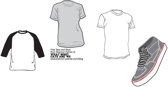 Sneakers And TShirt Template  Vector TShirt Templates