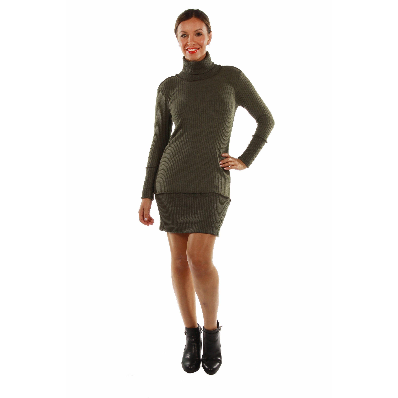 comfort apparel sleek autumn mock turtleneck dress products