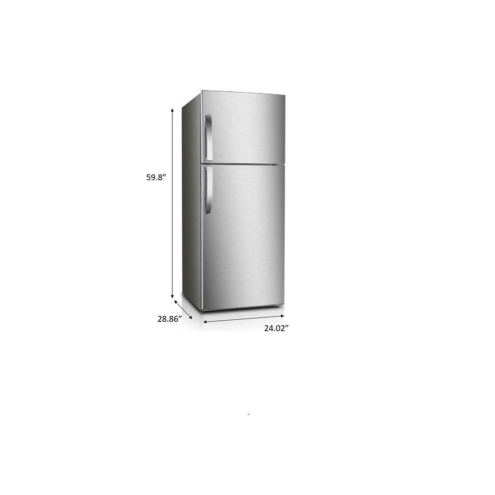 Premium 12 Cu Ft Frost Free Top Freezer Refrigerator In Stainless Steel Prn12260hs In 2020 Top Freezer Refrigerator Dining Room Bar Refrigerator