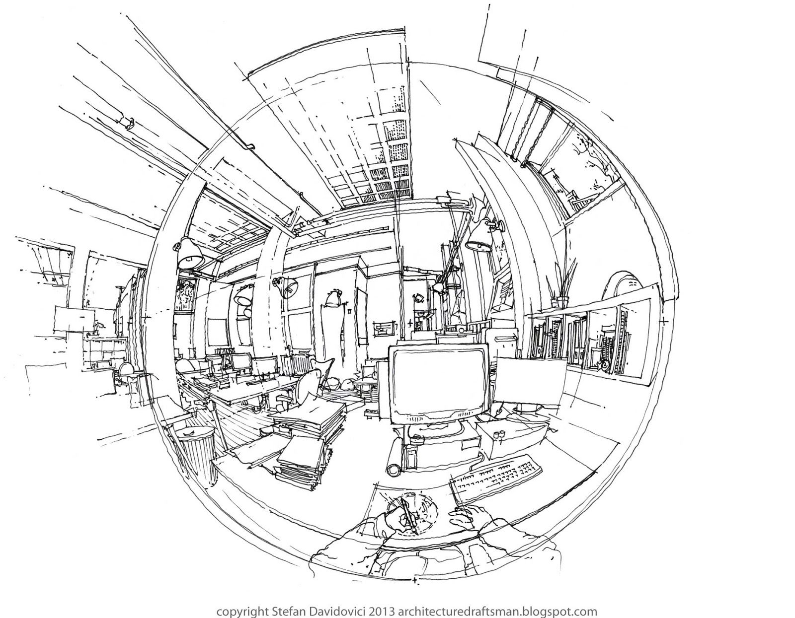 From My Desk Milan 2013 By Stefan Davidovici Architect In Milan Cool Sketches Interior Sketch Sketches