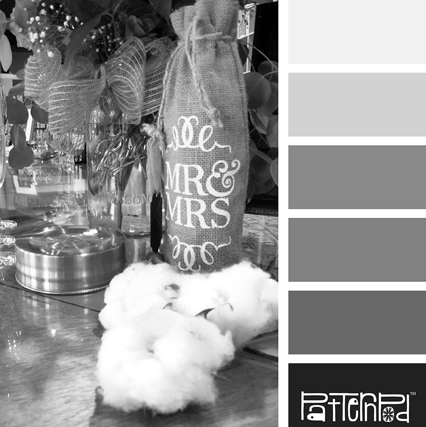 Color Palette: White, Gray, Black.  If you like our color inspiration sign up for our monthly trend letter - click the image for the link.