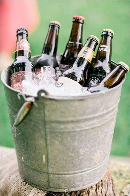 Drinks Bucket Of Beers Beer Bucket Drink Station Wedding Ice Bucket