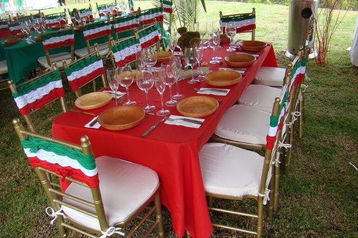 En estas fiestaspatrias decora tu mesa con colores muy for Decoracion mexicana