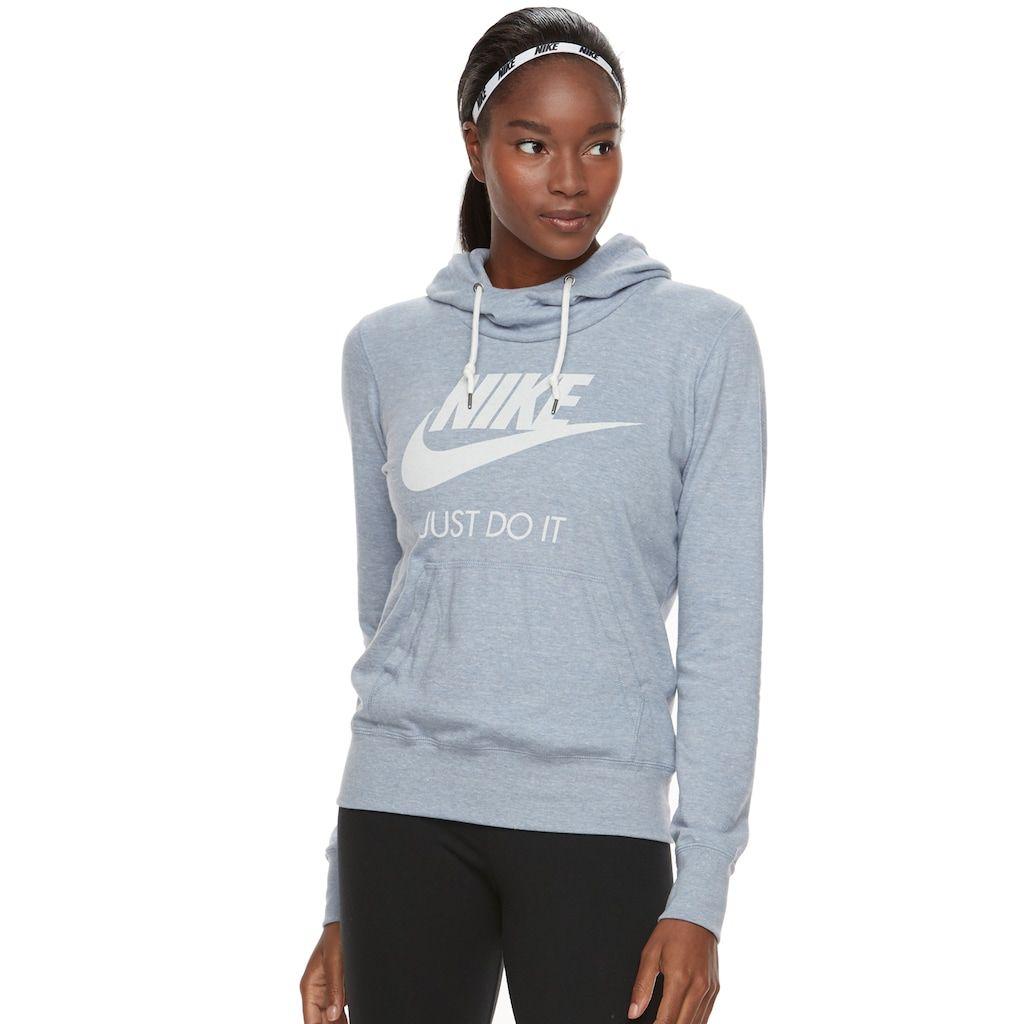 127ffb717 Women's Nike Sportswear Vintage Long Sleeve Graphic Hoodie, Size: Medium,  Dark Grey